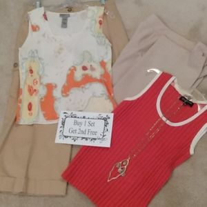 BOGO Anne Klein Capris w/Shell and She'll & pants